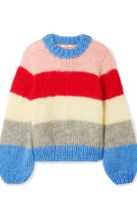 Ganni Julliard Striped Mohair jumper Preview Images