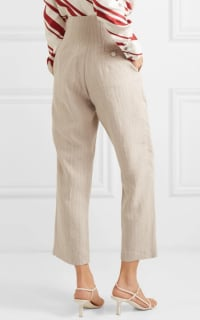 Racil Pinstriped linen trouser 3 Preview Images