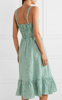 Reformation Dolls green gingham dress 5 Preview Images