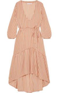 Faithfull The Brand Matilda asymmetric striped crepe midi dress 3 Preview Images