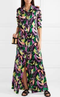 Olivia von Halle Hero printed silk-satin maxi dress Preview Images