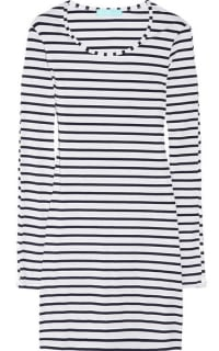 Melissa Odabash Black Jamie Striped Stretch-Jersey Mini Dress 7 Preview Images