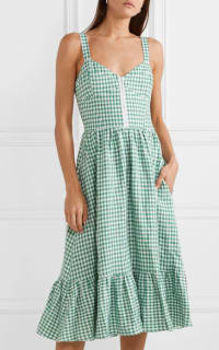 Reformation Dolls green gingham dress 3 Preview Images
