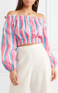 STAUD Off-The-Shoulder Striped Top 3 Preview Images