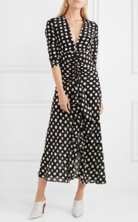 RIXO London Adriana Midi Polkadot dress 2 Preview Images