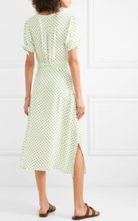 Faithfull The Brand Billie polka-dot crepe midi dress Preview Images