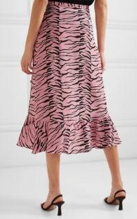 RIXO London Gracie ruffled printed silk crepe de chine wrap skirt Preview Images