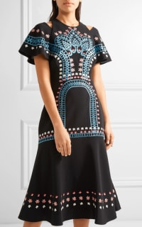 Temperley London Juniper cutout embroidered crepe dress 2 Preview Images