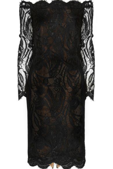 Emilio Pucci Off-the-shoulder Guipure lace dress 5 Preview Images