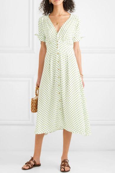 Faithfull The Brand Billie polka-dot crepe midi dress 2 Preview Images