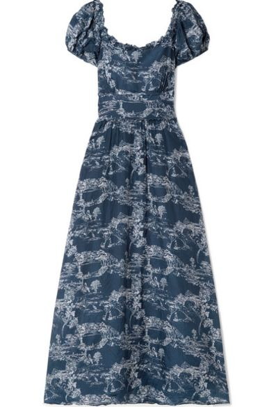 loveshackfancy Bridget printed cotton and silk-blend voile maxi dress Preview Images