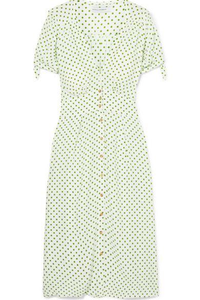 Faithfull The Brand Billie polka-dot crepe midi dress 3 Preview Images