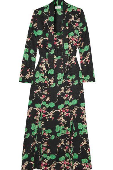 RIXO London Stella printed silk-jacquard midi dress 5 Preview Images