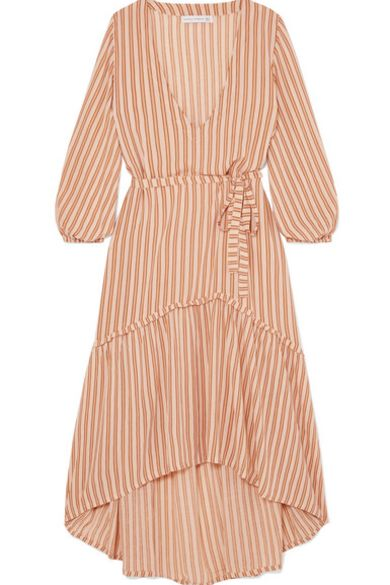 Faithfull The Brand Matilda asymmetric striped crepe midi dress 3 Preview Images
