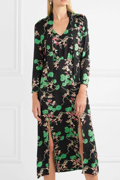 RIXO London Stella printed silk-jacquard midi dress 4 Preview Images