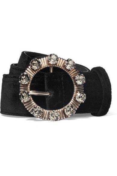 Miu Miu Crystal-embellished belt Preview Images