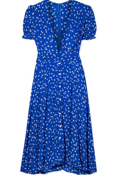 Faithfull The Brand Farah tie-detailed floral-print crepe midi dress Preview Images