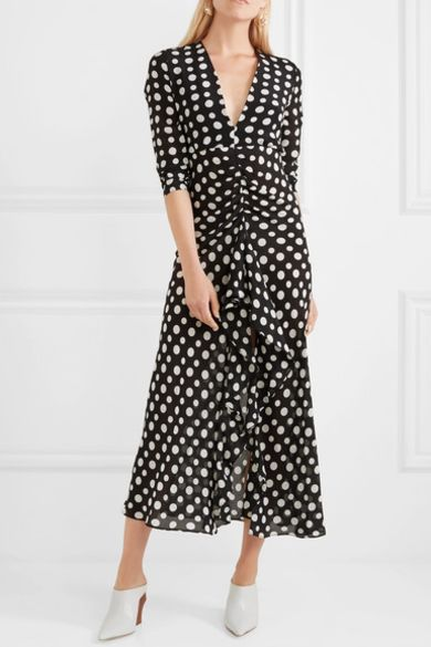 Rixo London Adriana Midi Polkadot dress 2 Preview Images
