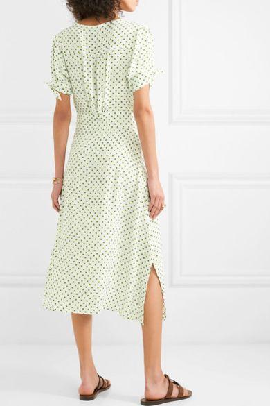 Faithfull The Brand Billie polka-dot crepe midi dress Preview Images