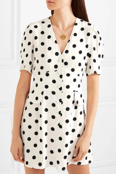 RIXO London Laura polka-dot dress 2