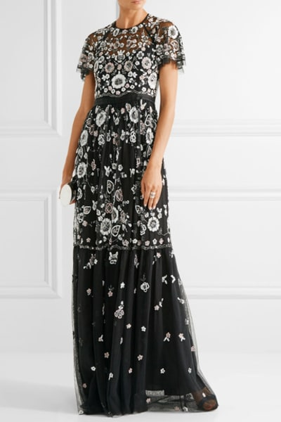 Needle & Thread PPETAL EMBELLISHED TULLE GOWN 2