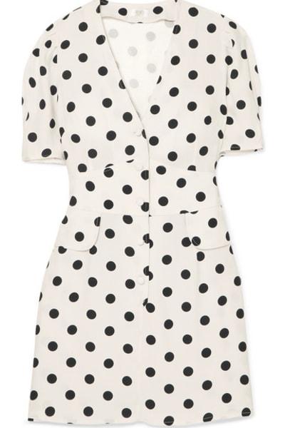 RIXO London Laura polka-dot dress
