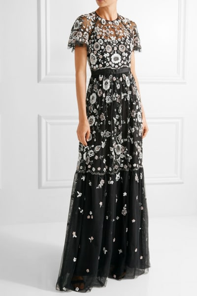 Needle & Thread PPETAL EMBELLISHED TULLE GOWN 4
