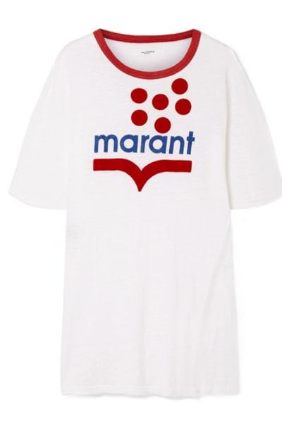 Isabel Marant Linen-jersey T-shirt