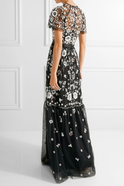 Needle & Thread PPETAL EMBELLISHED TULLE GOWN 3