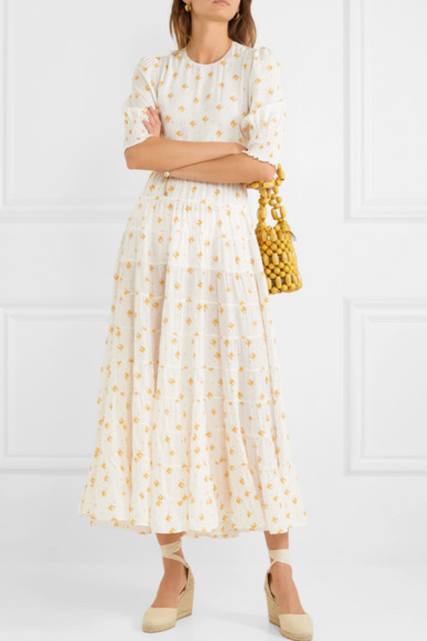 RIXO London Agyness tiered floral dress 5