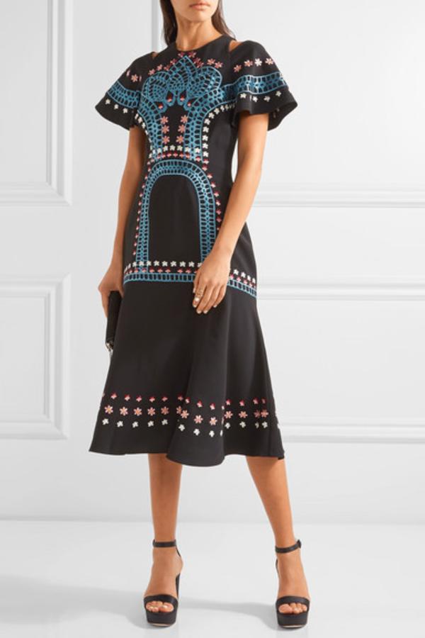 Temperley London Juniper cutout embroidered crepe dress 3