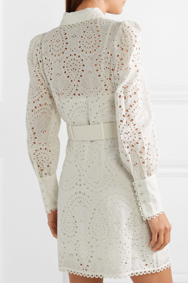 Zimmermann Belted broderie anglaise mini 3
