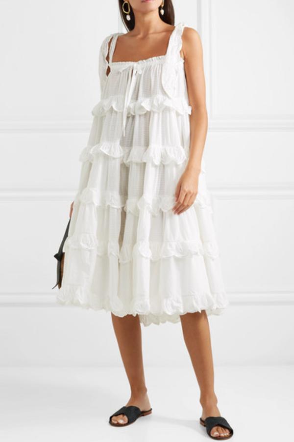 Innika Choo Iva tiered dress 3