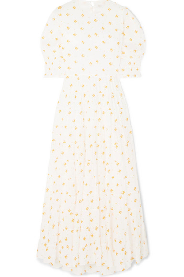 RIXO London Agyness tiered floral dress