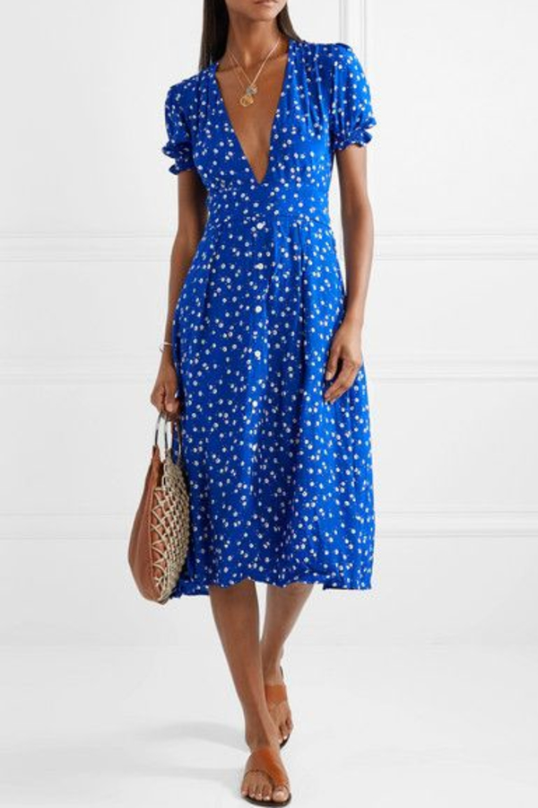 Faithfull The Brand Farah tie-detailed floral-print crepe midi dress 2