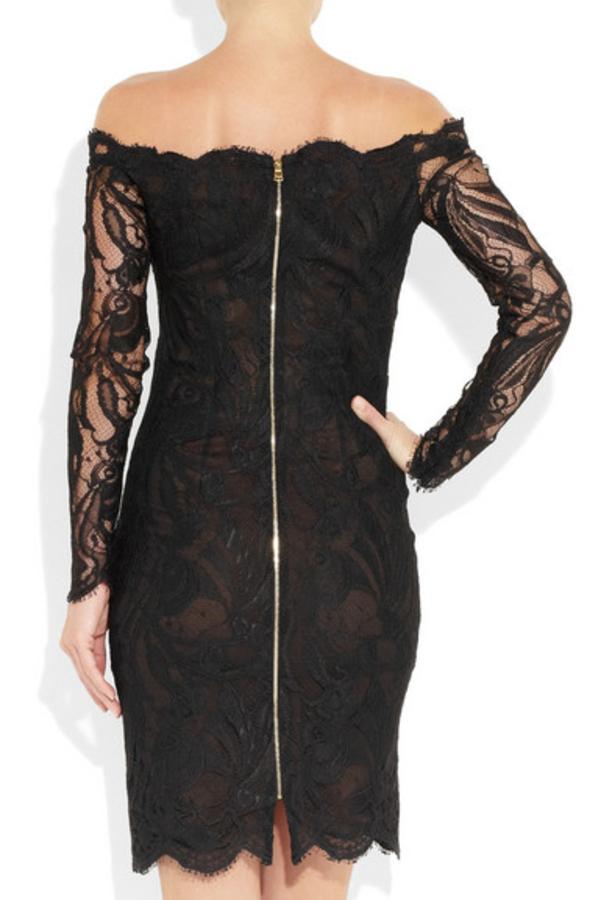 Emilio Pucci Off-the-shoulder Guipure lace dress