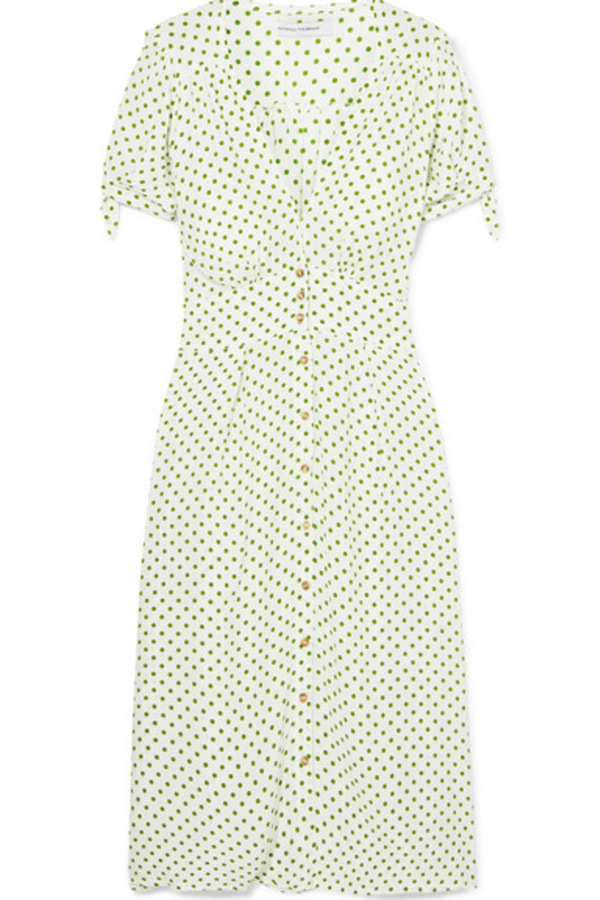 Faithfull The Brand Billie polka-dot crepe midi dress 3