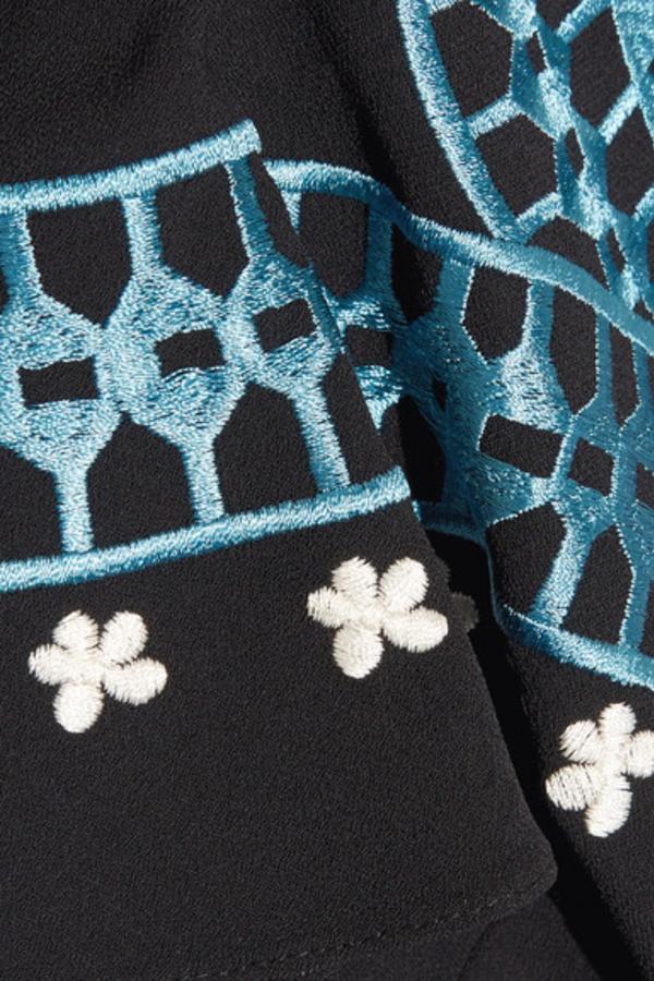 Temperley London Juniper cutout embroidered crepe dress 4