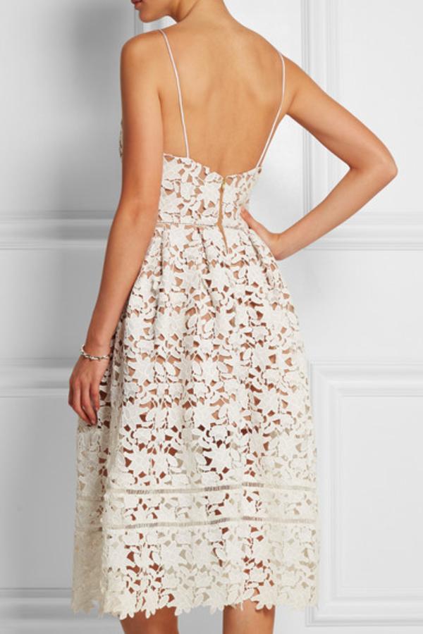 Self Portrait Azaelea floral-lace dress