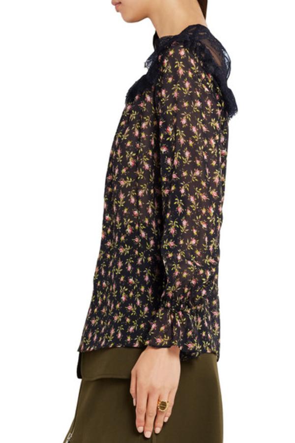 Philosophy di Lorenzo Serafini Ruffled silk-chiffon blouse 3