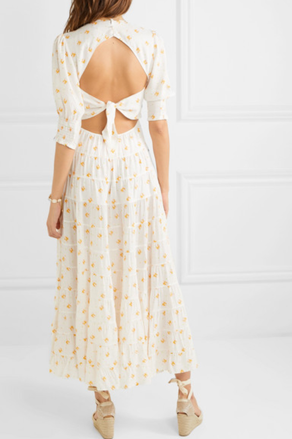 RIXO London Agyness tiered floral dress 2