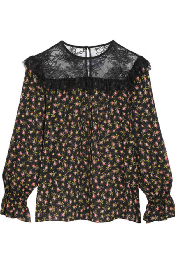Philosophy di Lorenzo Serafini Ruffled silk-chiffon blouse 4