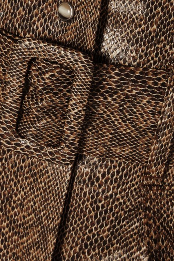 Nanushka Aarohi snake-effect skirt 5