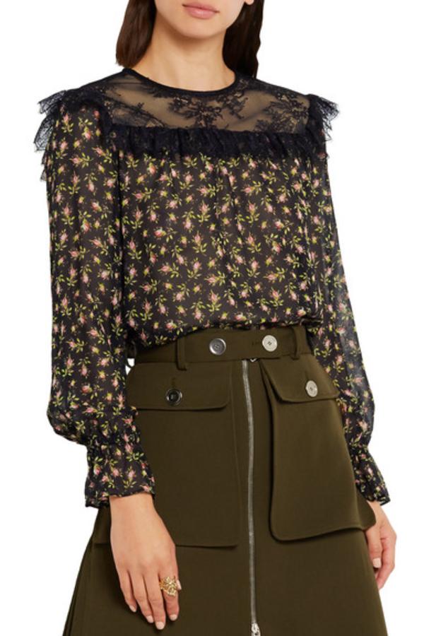 Philosophy di Lorenzo Serafini Ruffled silk-chiffon blouse 2