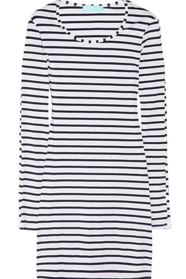 Melissa Odabash Black Jamie Striped Stretch-Jersey Mini Dress 7