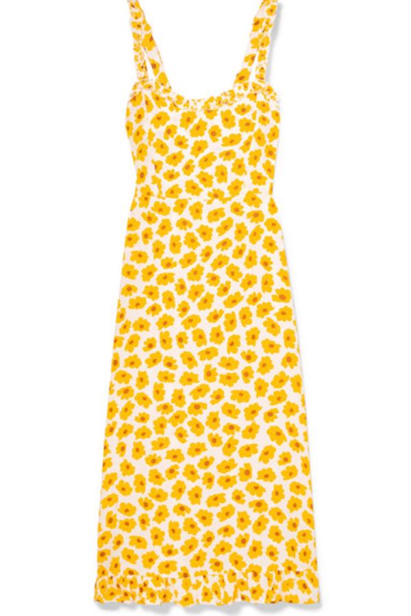 Faithfull The Brand Noemie Ruffled Floral Midi Dress 3