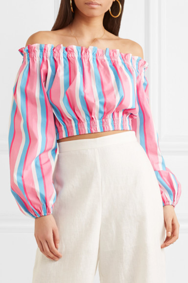 STAUD Off-The-Shoulder Striped Top 3