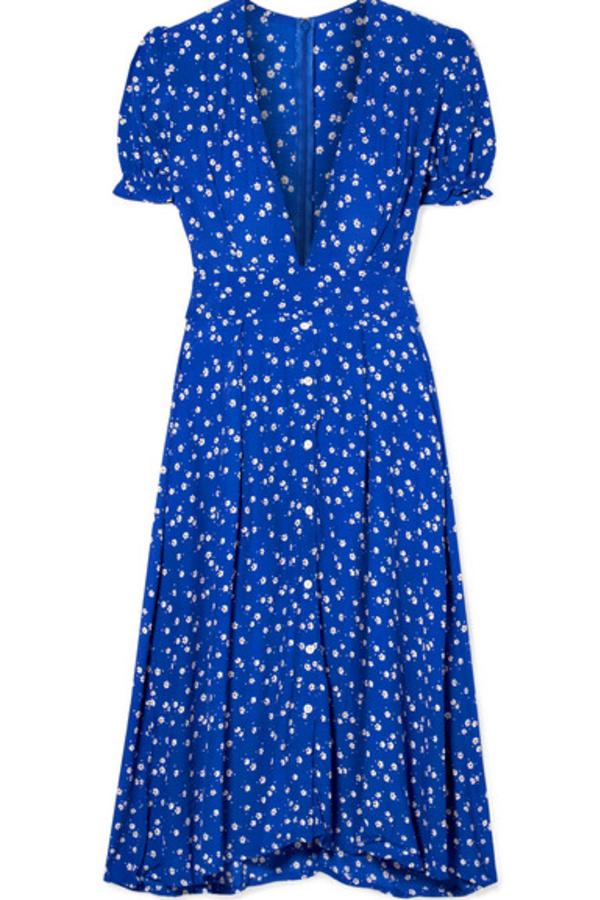 Faithfull The Brand Farah tie-detailed floral-print crepe midi dress
