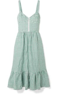Reformation Dolls green gingham dress 2 Preview Images