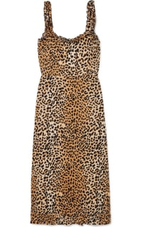 Faithfull The Brand Noemie leopard print midi 2 Preview Images